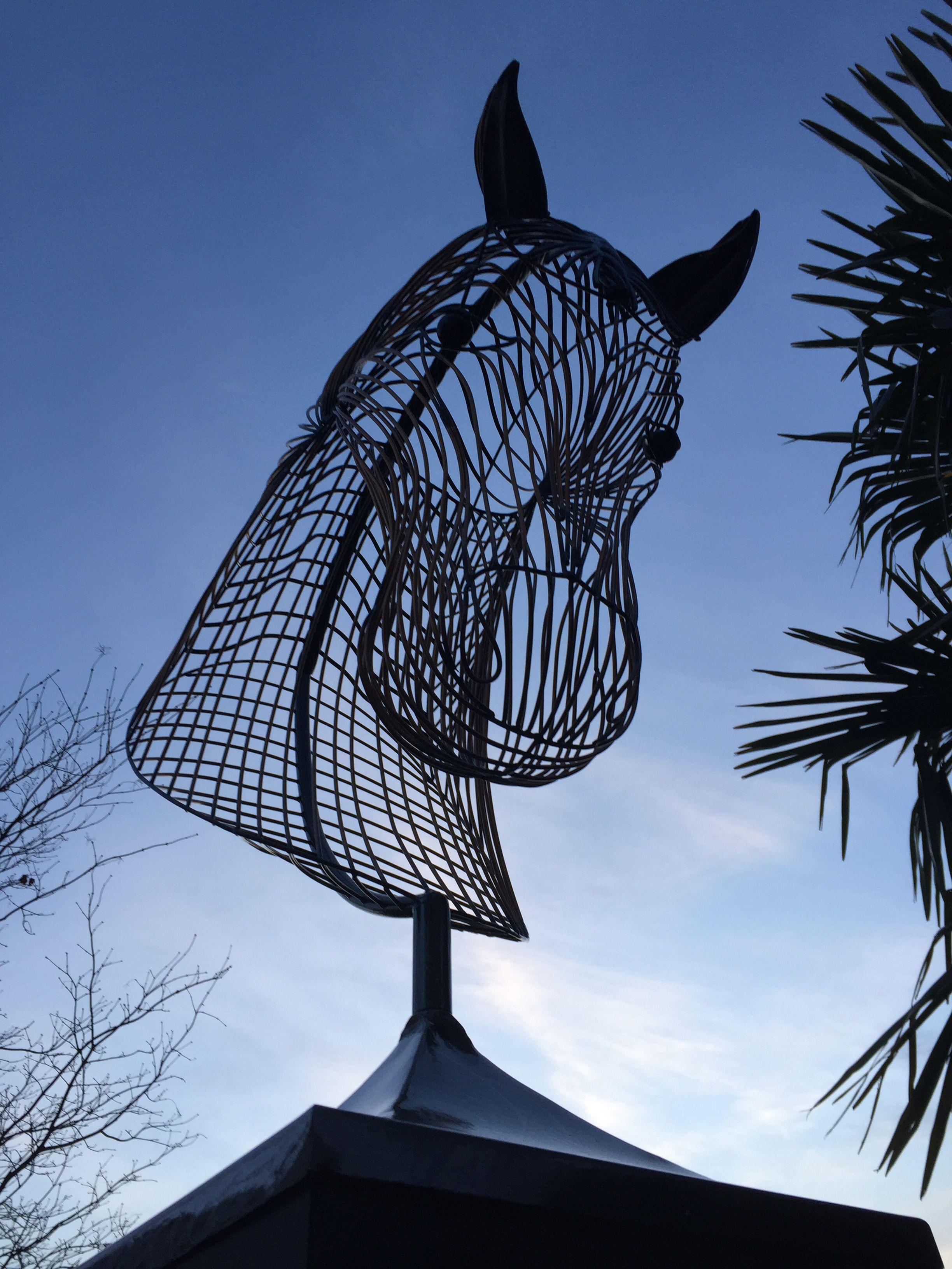 Wire Sculptures - Horse Head Wire Sculpture