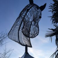 Horse Head Wire Sculpture