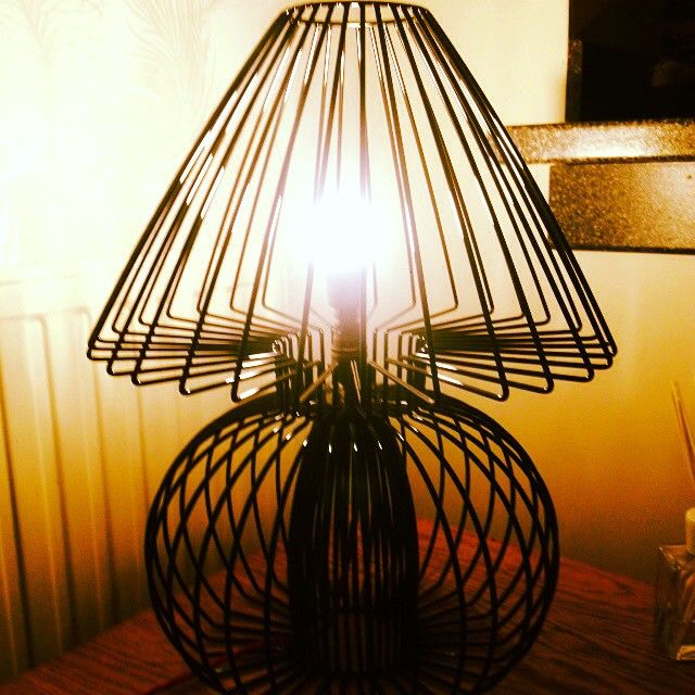 Art Deco Wire Lampbase and Shade