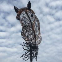 Dressage Horse Head Sculpture
