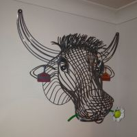 Cow Wire Sculpture